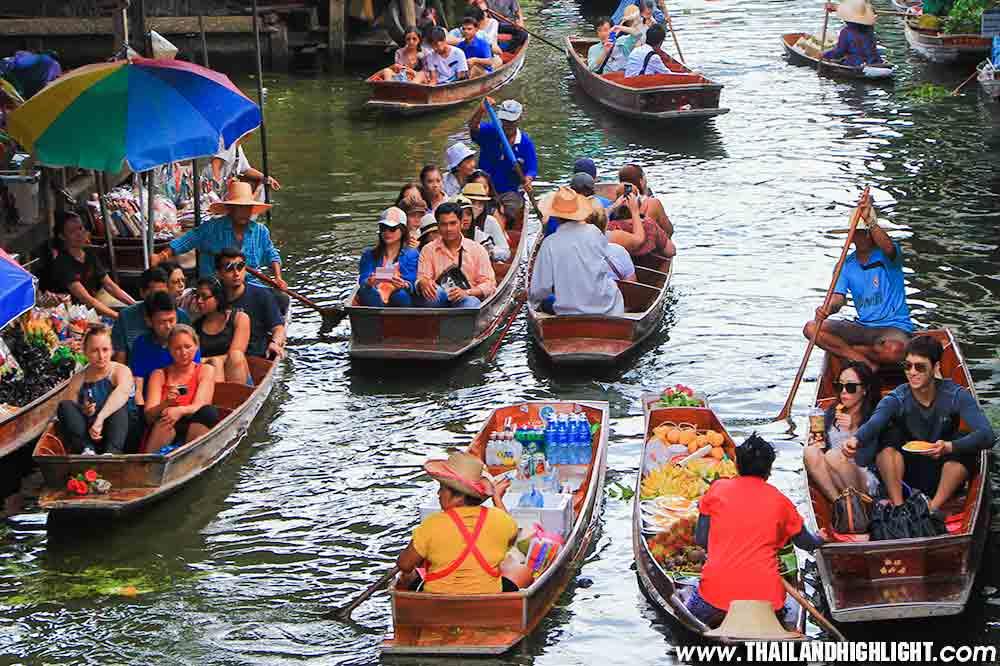 Damnoen Saduak Floating Market Tour Bangkok Half day Tour
