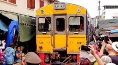 Maeklong Railway Ricky Market & Damnoen Saduak Floating Market Tour