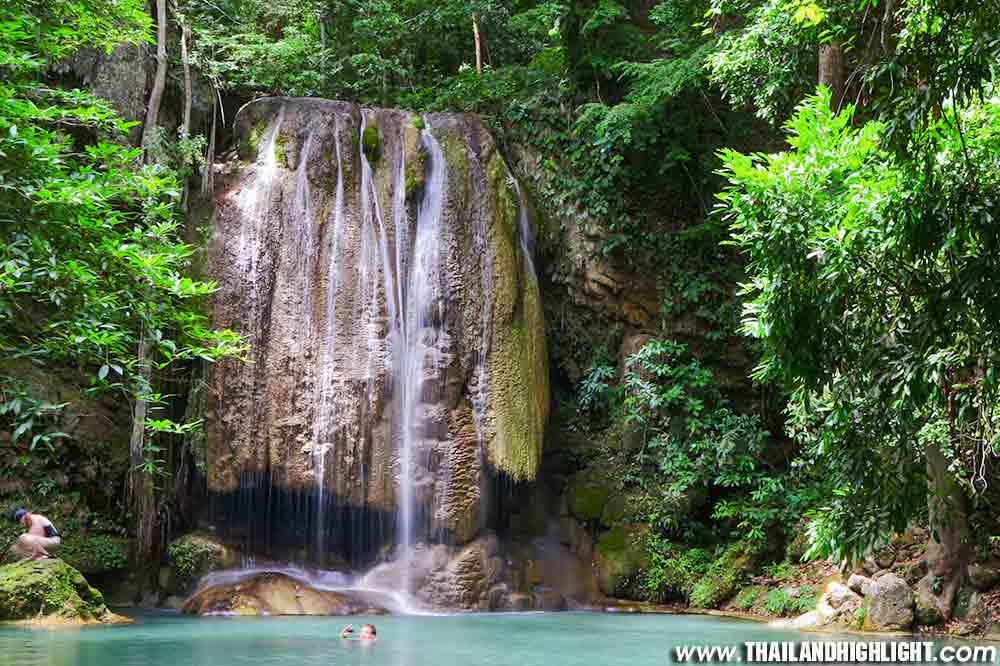 Kanchanaburi Elephant Bathing Erawan fall Tour 2 Days 1 Night