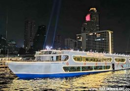 Bangkok night cruise with dinner on Meridian Alangka Cruise Bangkok,offer discount price promotion lower cost ticket booking & reservation,dinning reviews