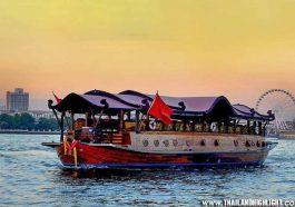 NYE 5-Star dinning Bangkok with New Years Eve Anantara Riverside Bangkok Manohra Cruise, the most luxurious ricebarge cruises on the Chaophraya,Thailand