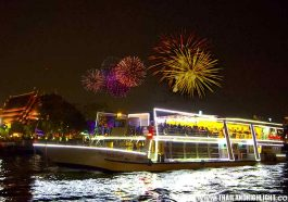 How to spend new year's eve in Bangkok.Best restaurants for dinning along Chaophraya river by New Years Eve Party Bangkok 2021 River Star Princess Cruise