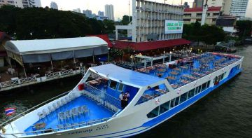 Bangkok ala carte buffet dinner cruise,can selected to service on board Boondarika Boat Yok Yor Cruise Bangkok Dinner Cruise, Easy booking boat ticket fee