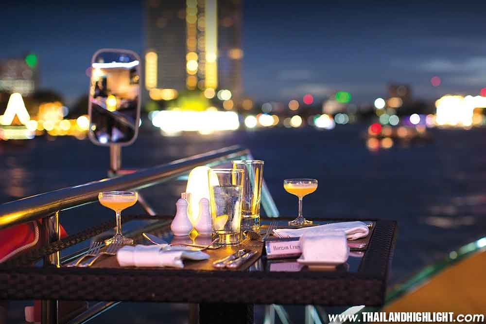 5-star candle light dining along the Chao praya river & International Dinner Buffet on Horizon Dinner Cruise Shangri-la Dinner Cruise Bangkok Price,Booking