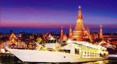 Where to celebrate new year's eve in Bangkok,nice place to countdown by New Year Eve Countdown Bangkok Chaophraya Cruise NYE Chao phraya river boat firework