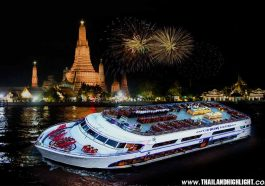 Best place for new year's eve in Bangkok Thailand.new years eve fireworks Bangkok spot to view New Years Eve Bangkok River Cruise White Orchid River Cruise