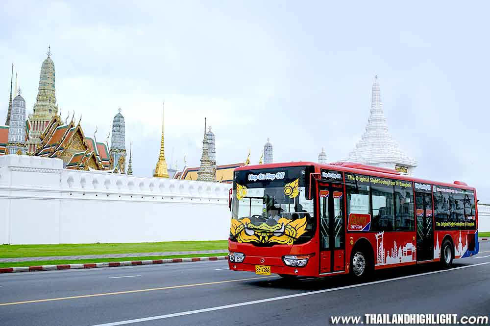 Giant city Bangkok Hop On Hop Off Bus in Bangkok by Giants City Tour. The Original Sightseeing Bus Tour of Bangkok Thailand.Discount Ticket Booking Online