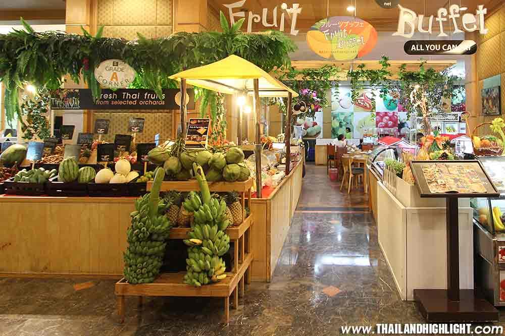 Buffet of fruit Bangkok,first and only one with Fruit Buffet Bangkok at Baiyoke Sky Hotel, Many Seasonal fruits as durian,mangosteen,ticket price booking